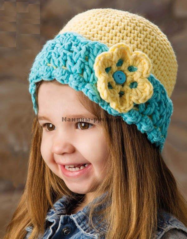 Детская шапка вязаная крючком (baby hat crochet)