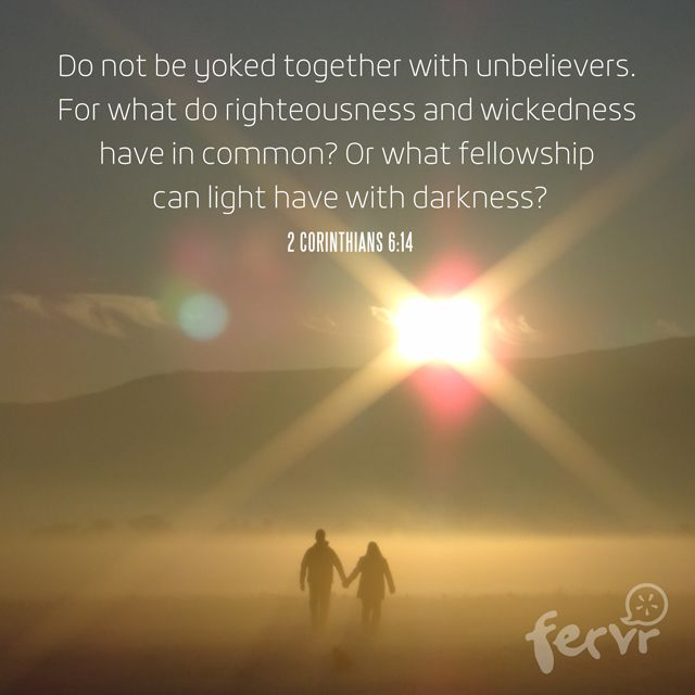 Scriptures on dating unbelievers - WHW