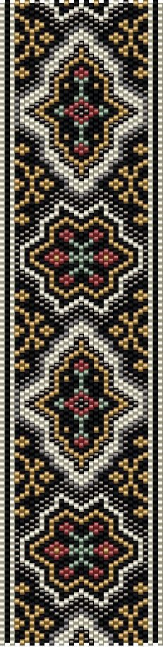 Odd Count Peyote Stitch Bracelet Pattern Digital Download
