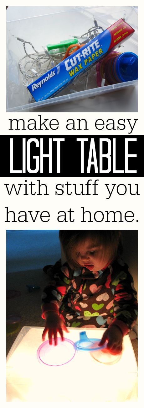 how to make a light table at home
