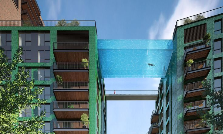 Would you take a dip 35 metres up in London's first 'sky pool'? | Money | The Guardian