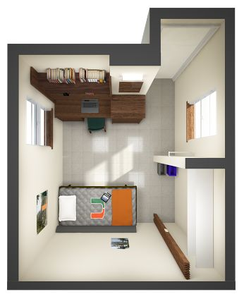 Single dorm room layout google search floor plans pinterest dorm dorm room layouts and - Dorm room layout ideas ...