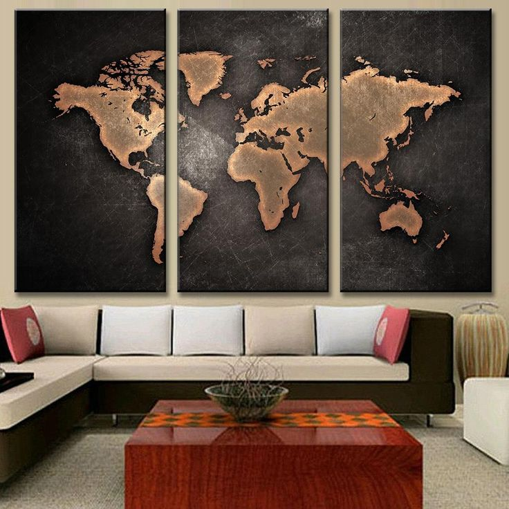 World Map in Black and Brown 116