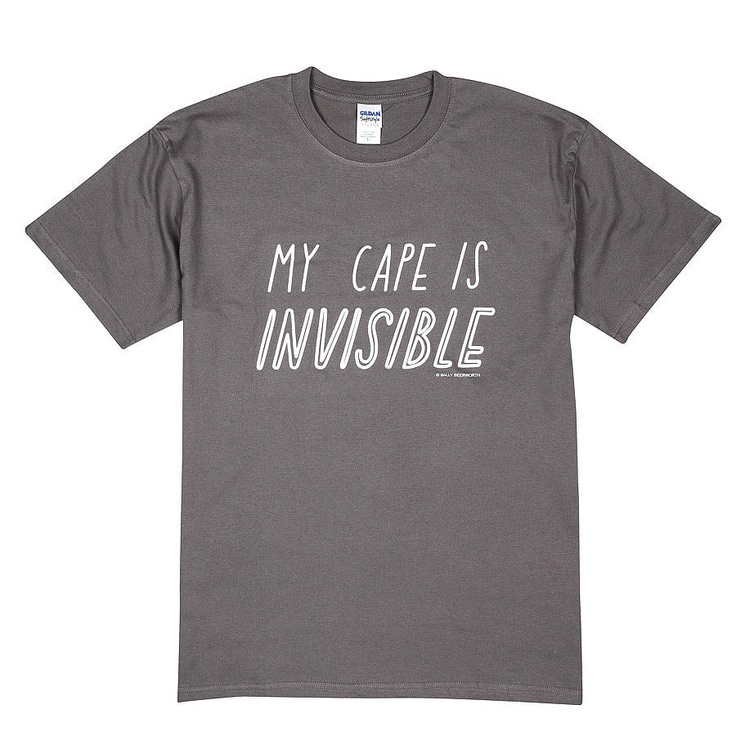 'my cape is invisible' t shirt by the joy of ex foundation | notonthehighstreet.com