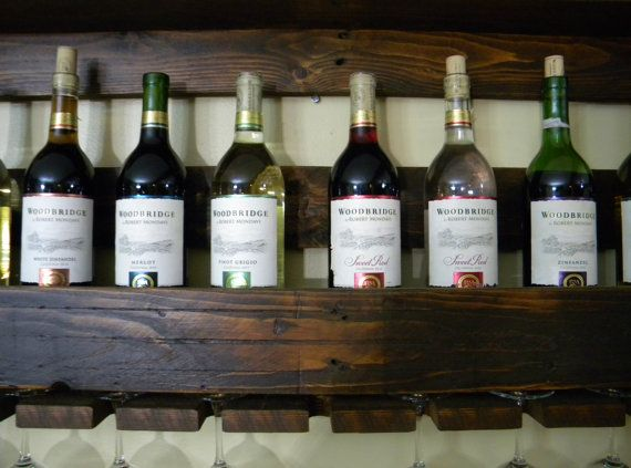 Wine Rack, Pallet Wine Rack, Unique Wine Rack, Reclaimed Wood, Rustic Shelf, Wine Storage, Wine Shelf, Wine, Wall Decor, Rustic Home Decor on Etsy, $105.00