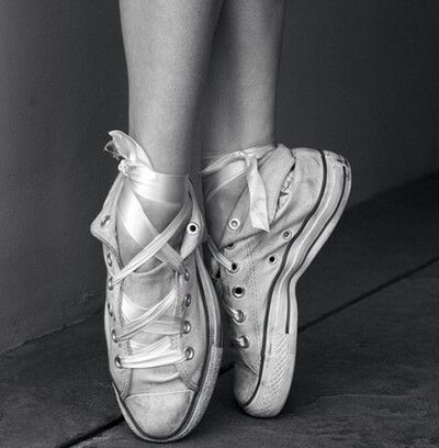 Dancing in sneakers. Proving you can dance wherever you go!
