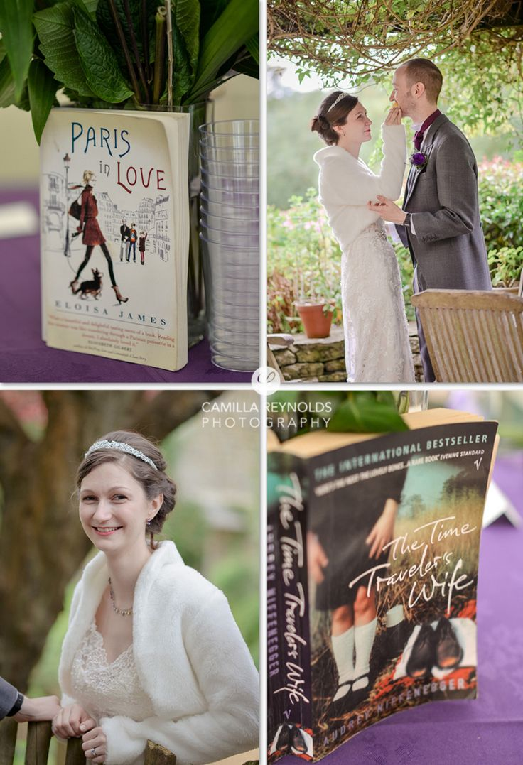 Incorportating favourite novels into table centrepieces is a lovely idea for…