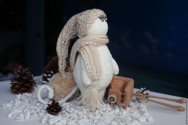 Купить Зефирчик Фотограф игрушка вязаная авторская ручная работа - белый…