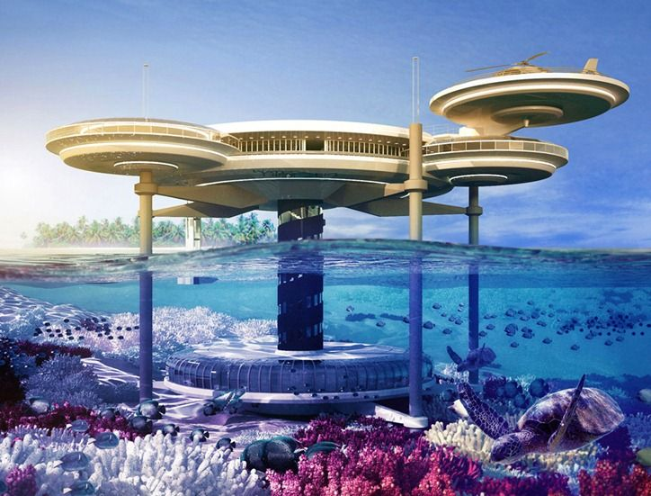 Подводный отель в Dubai.