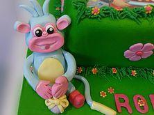 The Cake Lab Ranelagh, Dublin, Ireland, Artisan Baking Studio. Bespoke Wedding Cakes.  Dora the Explorer Piggy.