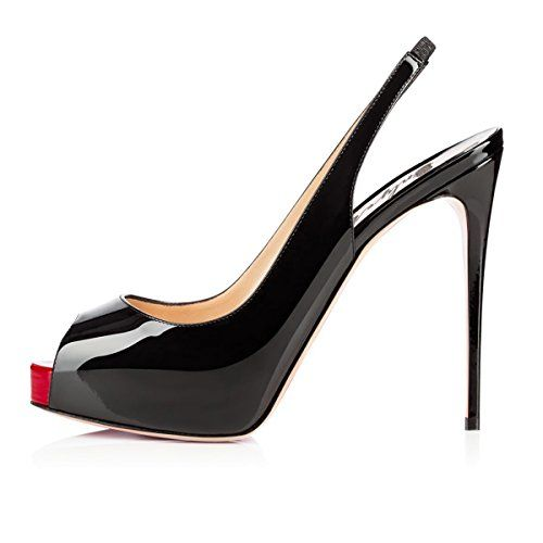 Onlymaker Damenschuhe High Heels Peep Toe Color-Block Slingback Pumps Lack Schwarz EU35 - http://on-line-kaufen.de/onlymaker/35-eu-onlymaker-damenschuhe-high-heels-peep-toe-3