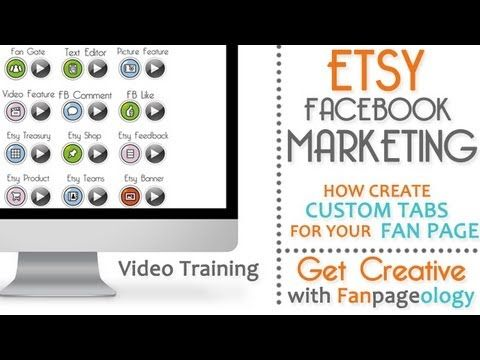 Fanpageology - Facebook Marketing Tips For Etsy Sellers.... Learn how to create custom handmade tabs specifically for your Etsy business fan page.