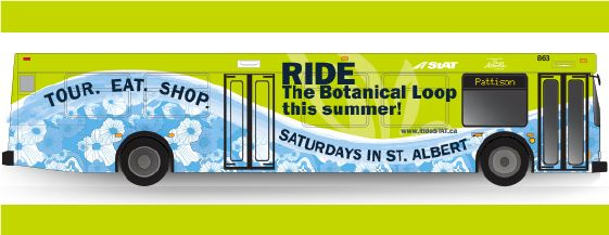 Hop onboard the Botanical Loop, a new St. Albert Transit route that connects tourists and residents to three key botanically-themed attractions across the city including the Enjoy Centre, the St. Albert Farmers' Market and the St. Albert Botanic Park.
