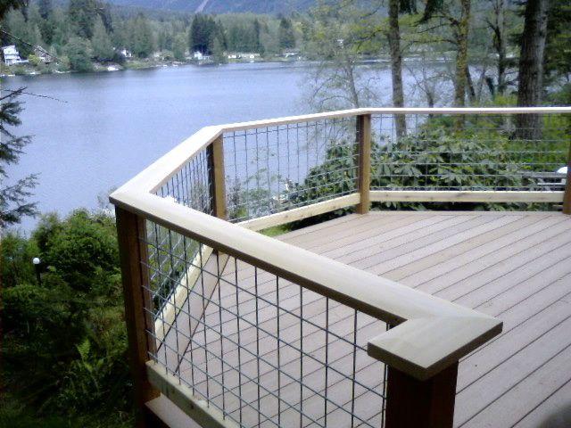 Hog Wire Railing For Deck | Sevenstonesinc.com