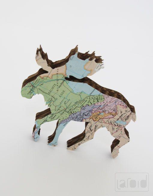 Laroid // Products of Laroid // little moose decoration handmade Cardboard www.laroid.com