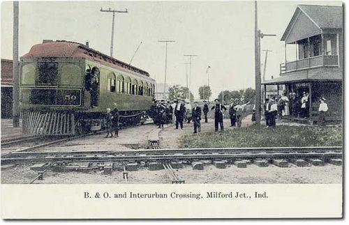 B Amp O Railroad And Winona Interurban Railway Crossing