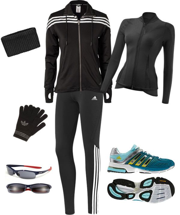 """My winter running clothes"" by heycarrieann17 on Polyvore"