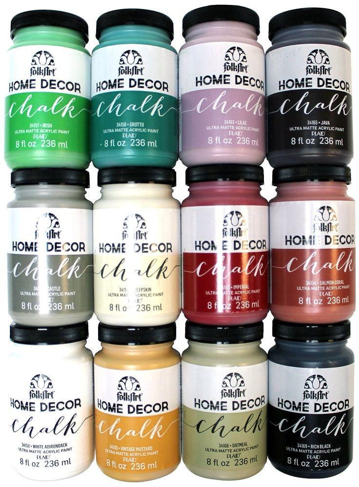 Com Plaid Promo845 Folk Art Home Decor Chalk Set 8 Ounce