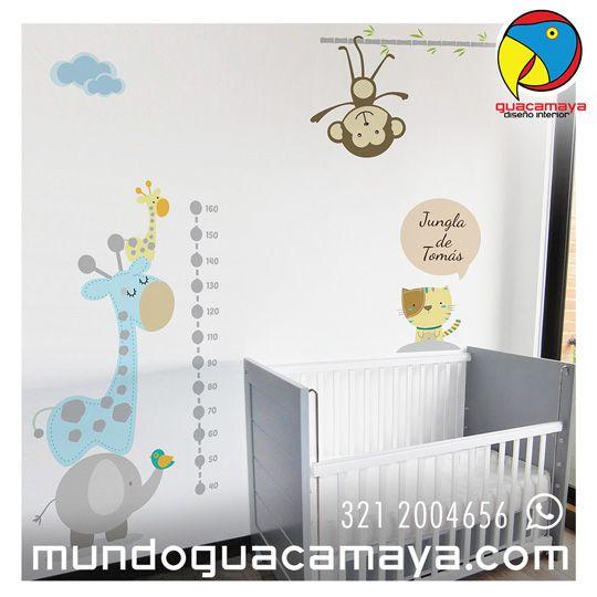 Contáctanos Whats App: 3212004656. Vinilos decorativos Habitaciones bebes. Baby Decor¿Quieres unos para tu bebé? www.mundoguacamay... Bogotá Colombia