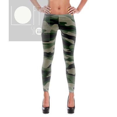 Green camo yoga pants leggings fitness apparel http://www.facebook.com/loftyshoppe or http://www.loftyshoppe.storenvy.com