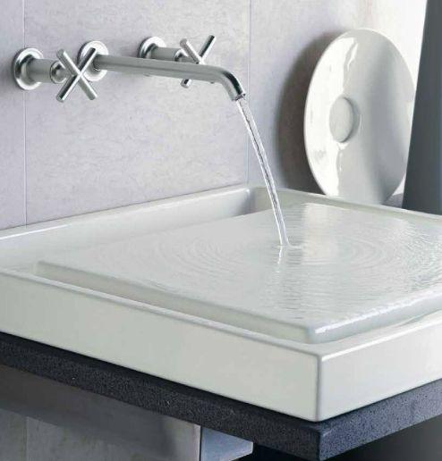 20 best Robinet design et moderne images on Pinterest Faucets - mitigeur mural salle de bain