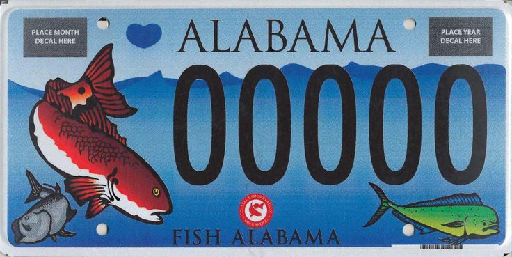 17 best images about fishy license plates on pinterest for Alabama non resident fishing license