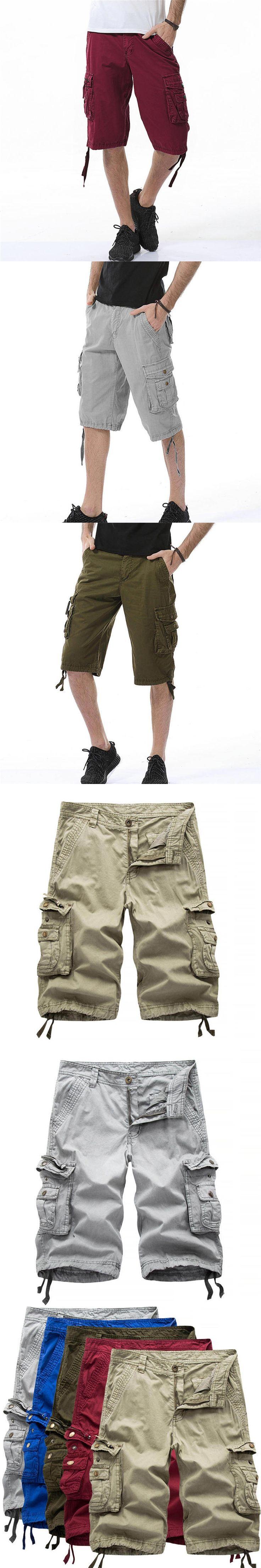 Plus Size Mens Shorts Summer Half Short Lightweight Cargo Combat Shorts Cropped Soft Multi Pocket Summer Men Clothing 0331
