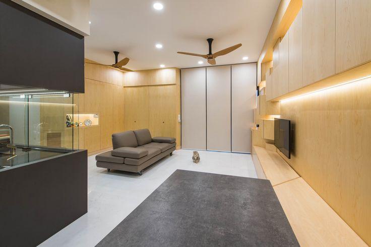 Wall, display, tv console, storage, Cat climb, workstation