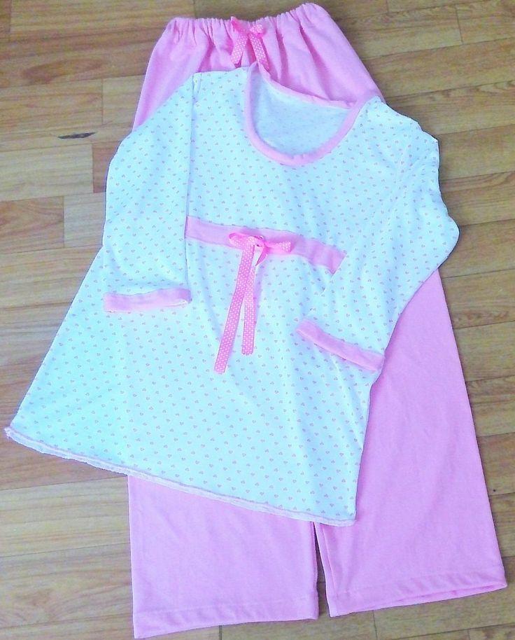 Pijama mujer $45.000, pantalón largo y saco ajustable debajo del busto manga 3/4