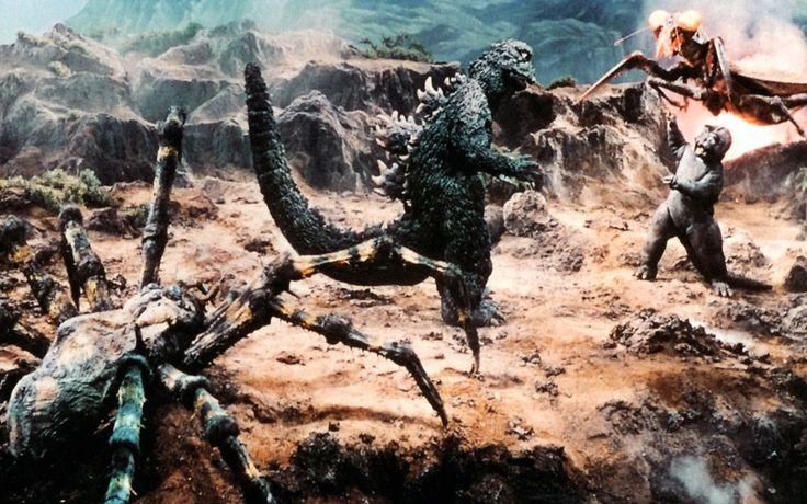 Son of Godzilla battles giant insects. SON OF GODZILLA (1967)