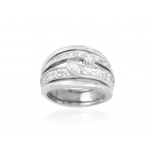 Exxotic stylish designed 925 sterling silver white american diamond ring - Online Shopping for Rings by Exxotic jewelz