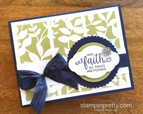 Stampin Up Ribbon of Courage Hope & Sympathy Card - Mary Fish StampinUp