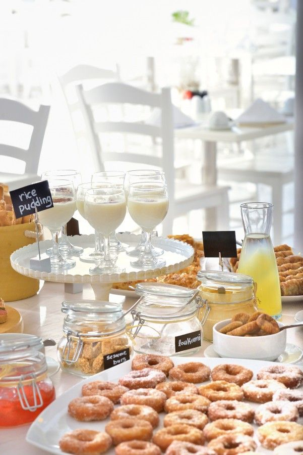 Sweet morning delicacies at Blé Restaurant.  http://www.hotelpalladium.gr