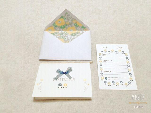 結婚式の招待状セット〜ネイビー×イエロー〜「ウェディング特集」 by chun*chan 文房具・ステーショナリー カード・レター・ラッピング