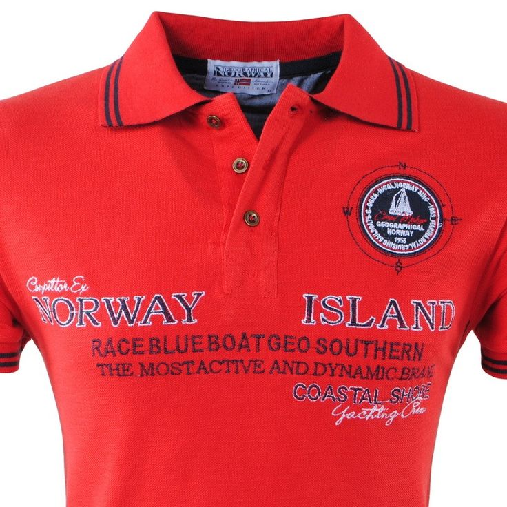 Geographical Norway - Men's Polo - Island - Kesigne - Red