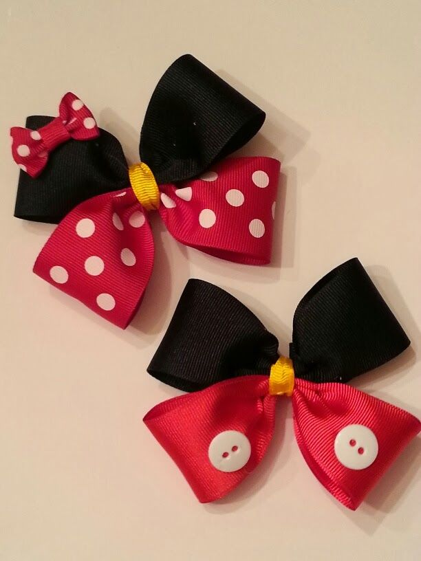 Mickey and Minnie bows