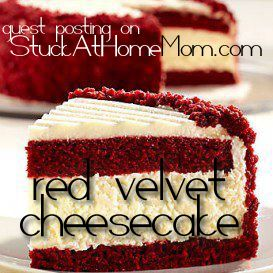 Delectable Red Velvet Cheesecake Recipe #cheesecake #recipe - StuckAtHomeMom.com