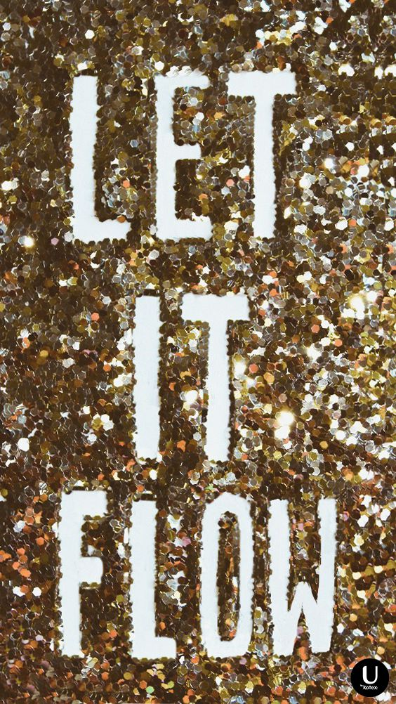 Save this glittery image to your phone background because the season of glitter is HERE. Also, do you like our version of Let It Snow?! LOL. We love a good period joke.