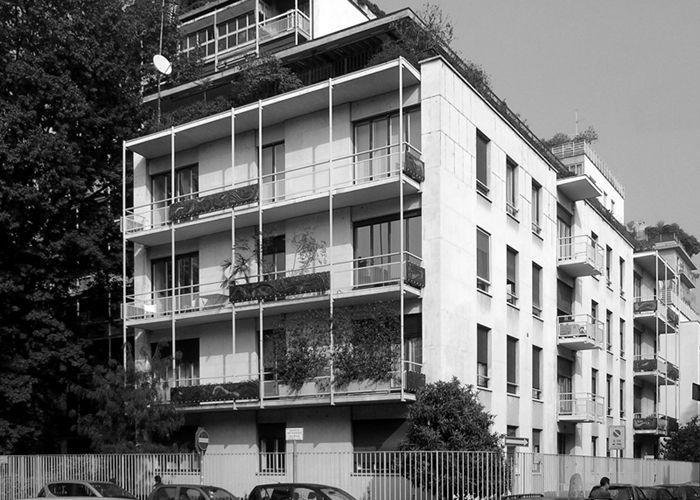 Gustavo und vito latis wohngeb ude in ber lanzone 6 for Franco albini architetto