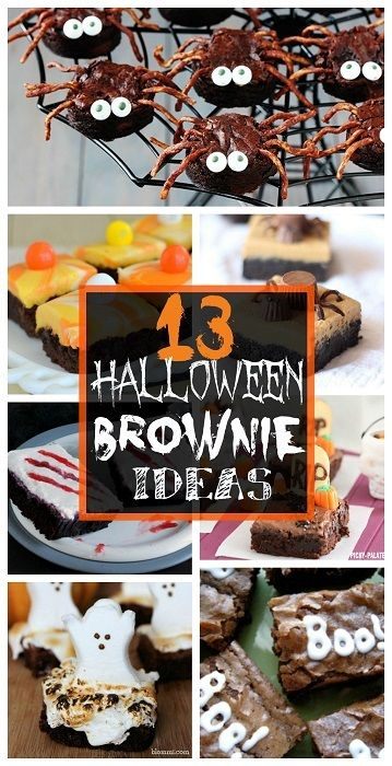 Here is a list of 13 halloween brownies that you can make for a party! You can find spiders, pumpkins, graveyards, and more spooky dessert ideas!