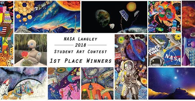 nasa_langley Which of these 1st place winners will be selected as the grand prize winner of our 2018 art contest? Check our site at 12 p.m. EST on March 8 to find out! www.artcontest.larc.nasa.gov#nasa #art #artcontest #winner NASA Langley Research Center 2018/03/08 04:37:24