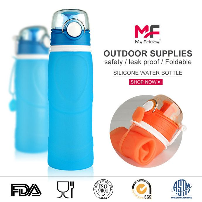 Cool Water Bottles-Kean Silicone factory makes high quality  best water bottles foldable like nalgene water bottle.With big opening so that you can fill with ice cubes and wash them easily,perfect for your everyday use