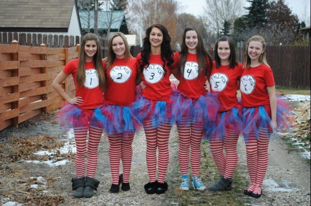 thing 1 and 2 costumes | Group Halloween costume thing 1 thing 2 dr.Seuss | Holidays :)