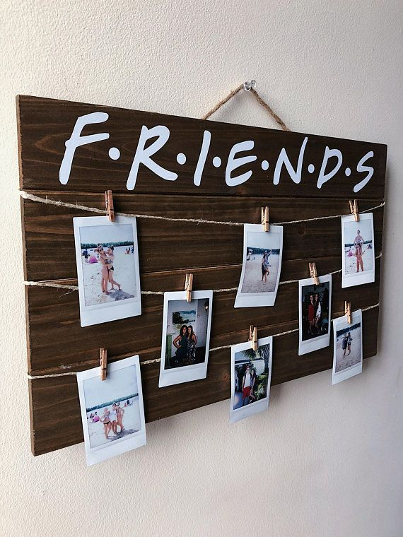 FRIENDS TV Show Wood Picture / Polaroid Display with Clips