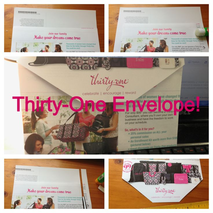 How to make a Thirty-One Envelope!  Perfect for the new catalog Minis!!