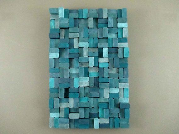 Wood Slice Sculpture   Wooden Slice Sculpture   Teal Wall Sculpture   Wood Wall  Art   Wood Wall Hanging   Blue Wood Wall Hanging USD) By ...
