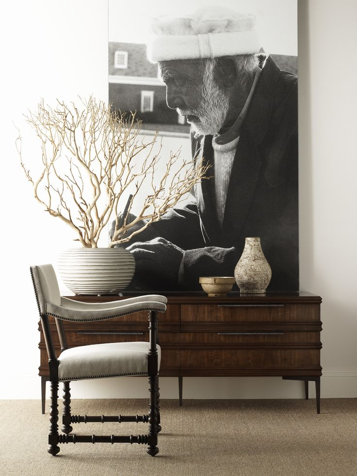 Blackstone Arm Chair And Hamlin Console. Made To Order By Hickory Chair
