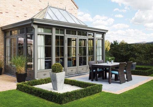 Een idee voor een dichte veranda veranda 39 s serres - Veranda arrondie ...