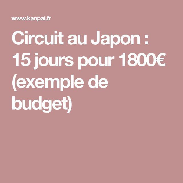 Circuit au Japon : 15 jours pour 1800€ (exemple de budget)