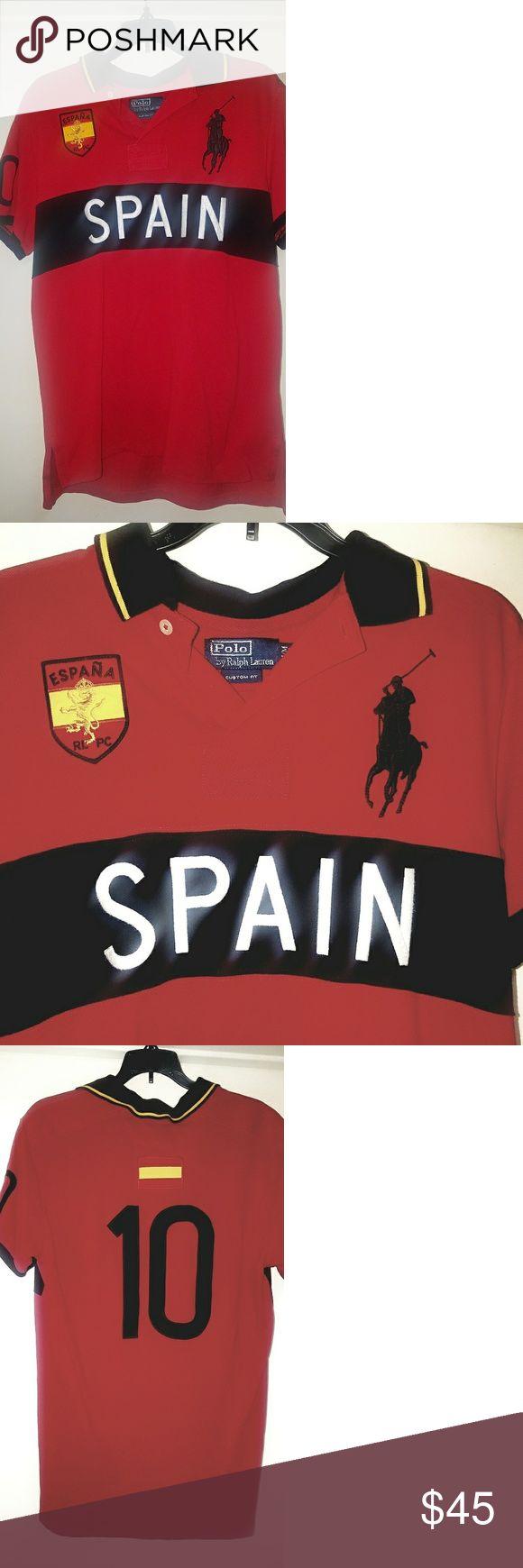 EUC - Polo Ralph Lauren Red 'Spain' Polo Shirt EUC - Red Polo Ralph Lauren 'Spain' polo shirt size Medium. Great condition. Previous buyer canceled the order. Polo by Ralph Lauren Shirts Polos